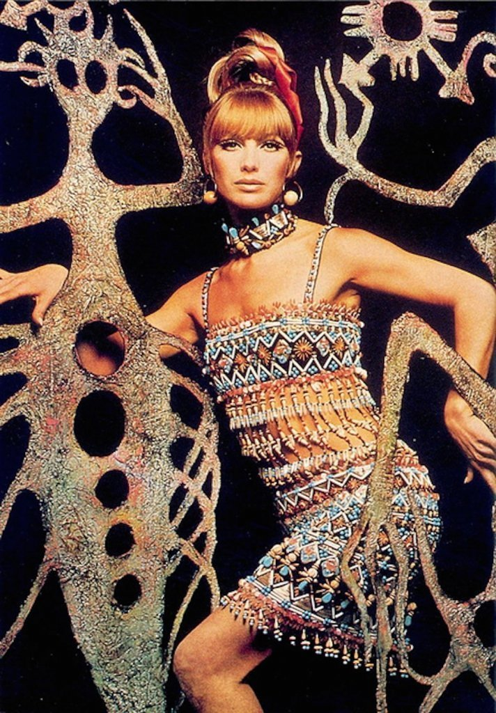 Secondo scatto di Yves Saint Laurent, Bambara Collection, Spring Summer 1967