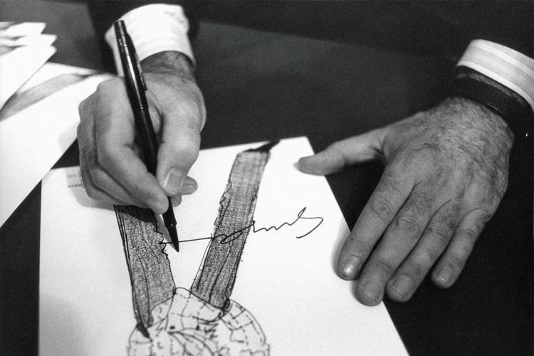 giorgio armani firma autografa